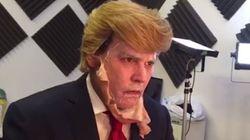조니 뎁, 트럼프 가면을