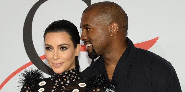 FILE - In this Monday, June 1, 2015, file photo, Kim Kardashian, left, and Kanye West arrive at the 2015...