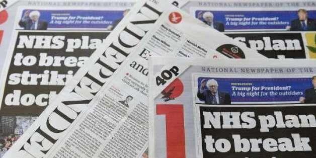 영국 일간지 '인디펜던트', 종이신문 발행