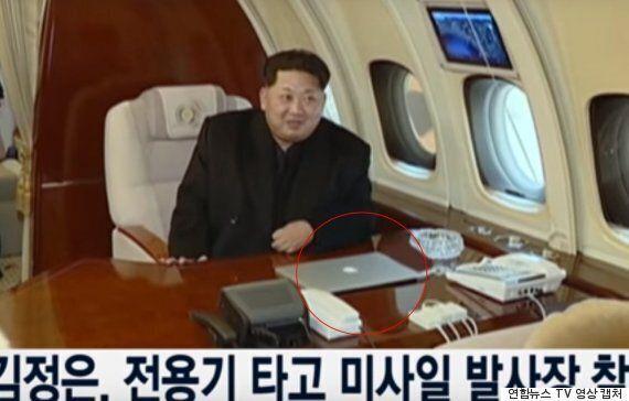 김정은이 전용기에서 사용한 노트북은