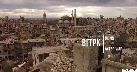 5년의 내전으로 완전히 파괴된 시리아 도시 '홈스'를 드론으로