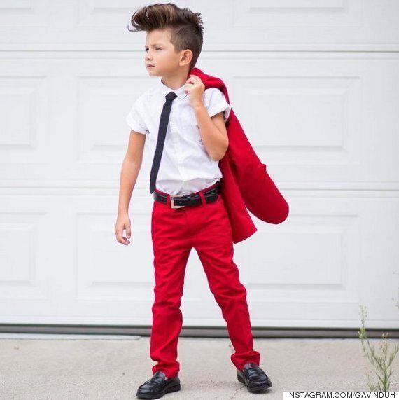 어떻게 입어야 할지 모르겠다면, 이 6살 소년에게 한 수