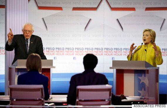클린턴과 샌더스가 민주당 2차 토론에서 다시