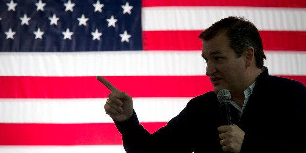 Republican presidential candidate, Sen. Ted Cruz, R-Texas, speaks during a campaign event at the Grace...