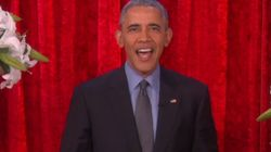 버락 오바마가 TV에서 영부인에게 밸런타인데이 메시지를