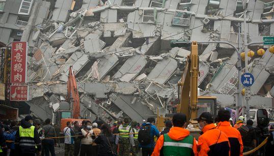 규모 6.4 지진이 대만을 강타했다(사진,