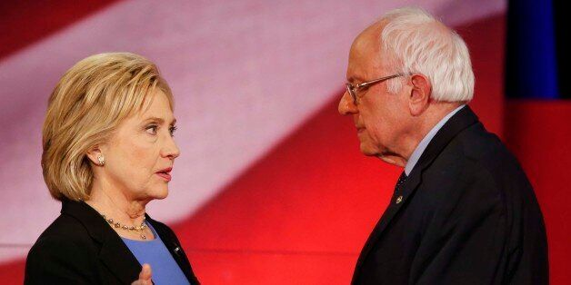 Democratic presidential candidate, Hillary Clinton and Democratic presidential candidate, Sen. Bernie...