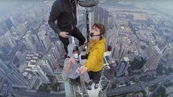 미친 러시아 남자들이 384m 빌딩서 셀카를