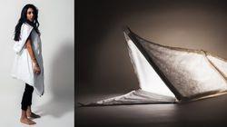 대학생들이 난민들을 위해 만든 텐트 겸 침낭 겸 코트(사진,