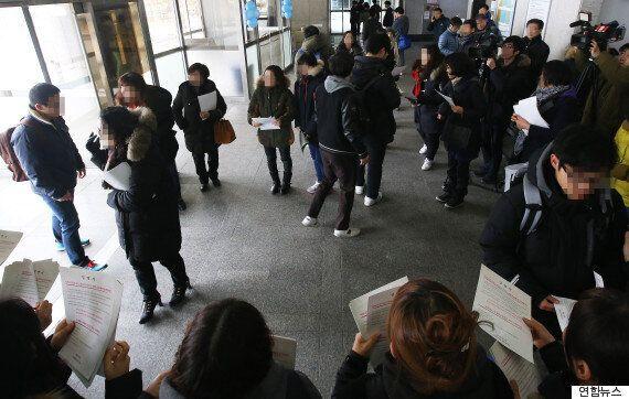 '세월호 존치교실' 철수 요구하는 단원고 학부모들, 신입생 OT