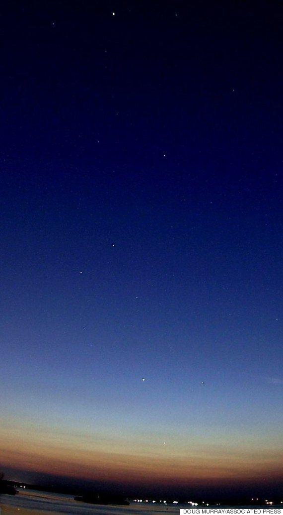 빛나는 행성 다섯 개를 지구에서 동시에 볼 수