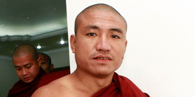 FILE - In this Monday, Jan. 16, 2012 file photo, Shin Gambira, a prominent Buddhist monk who was one...