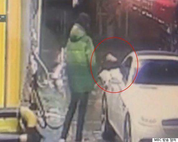 셀프 주유소에서 쓰레기 던지고 직원 폭행한