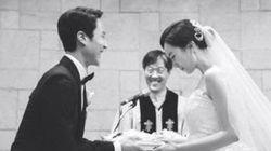 정우-김유미 커플의 결혼식 풍경(사진