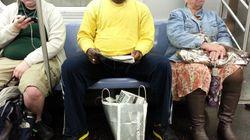 한 여자가 지하철 맨스프레딩(쩍벌남)과
