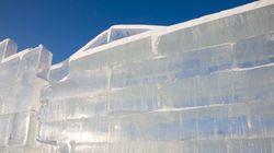 얼음으로 만든 만리장성이 캐나다에