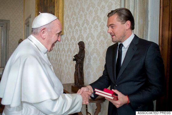 레오나르도 디카프리오가 프란치스코 교황을 만났다(사진,