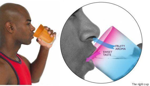 뇌를 속여 물을 주스로 바꾸는 신박한 컵이