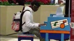 쇼핑몰 피아노로 이루마의 곡을 연주한 미국