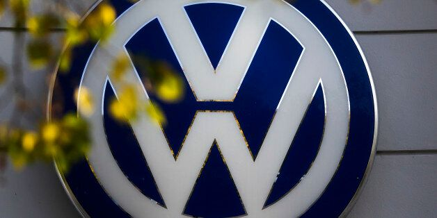 FILE - This Oct. 5, 2015 file photo shows the Volkswagen logo at the building of a company retailer in...