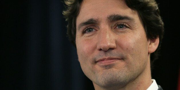 Canadian Prime Minister Justin Trudeau speaks during a press conference following a speech on diversity,...