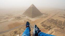 이집트 피라미드를 등반한 남자, 체포되다(사진,