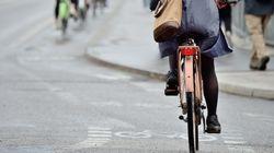 자전거를 타고도 안전하게 건널 수 있는