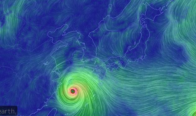6일 현재 태풍 링링
