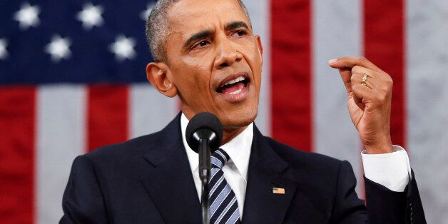 President Barack Obama delivers his State of the Union address before a joint session of Congress on...