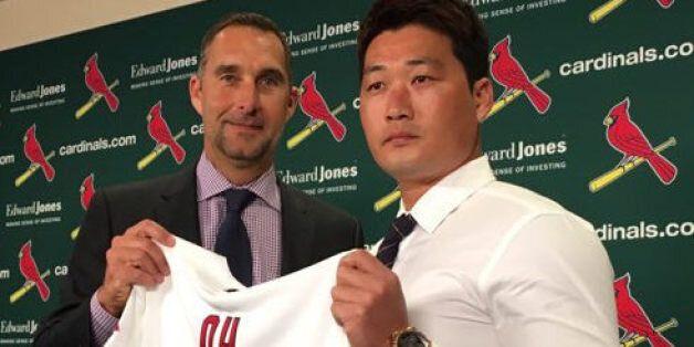 오승환, MLB 세인트루이스 공식 입단