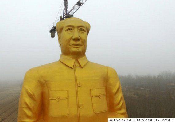 한 사업가가 36m짜리 마오쩌둥 동상을