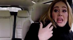 아델이 자동차 노래방에서 랩을