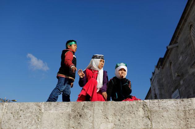 ウイグル出身の子供たち(撮影場所:トルコ)