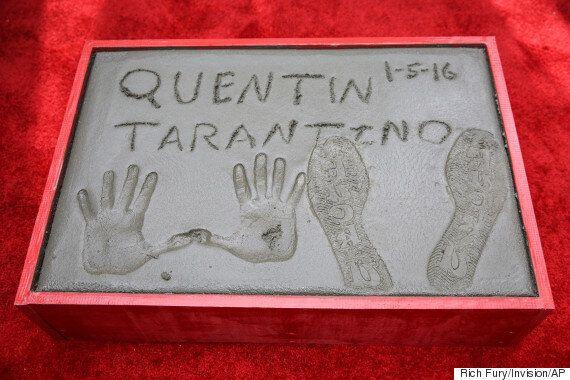 쿠엔틴 타란티노가 핸드프린팅을 하며 남긴 '욕설'