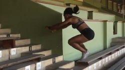 어느 올림픽 여성 육상선수의 놀라운