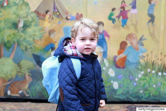 영국 조지 왕자, 유치원에 처음 등교하던