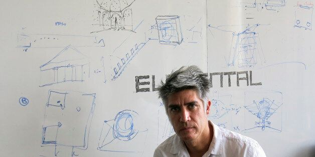 Chilean architect Alejandro Aravena poses for a photo at his studio in Santiago, Chile, Tuesday, Jan....