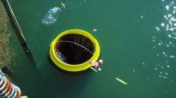바다 쓰레기를 빨아들이는 놀라운 통이