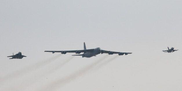 핵미사일 탑재 'B-52' 한반도