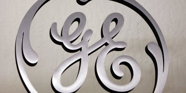 FILE - In this Dec. 2, 2008 file photo, a General Electric (GE) sign is displayed at Western Appliance...