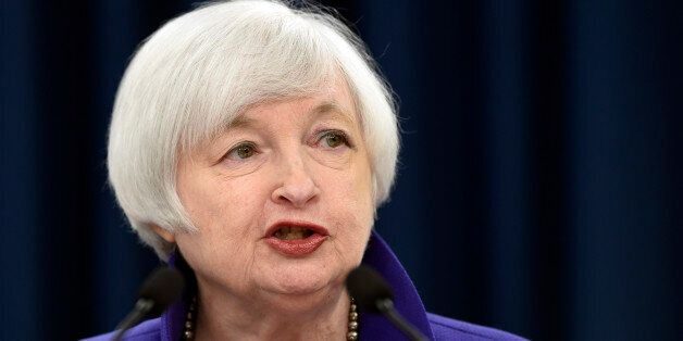 Federal Reserve Chair Janet Yellen speaks during a news conference in Washington, Wednesday, Dec. 16,...