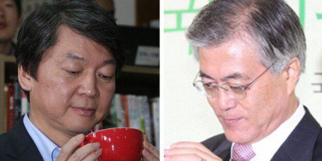 차기 대선 야권 후보 지지도 : 안철수 41% vs 문재인 33%