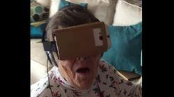 '가상현실 영상'을 처음 경험한 할머니의