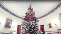 크리스마스를 맞은 백악관 가상 투어를 해보자(360도