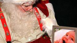 가장 가슴 아프고 아름다운 백화점 산타의 이 사진