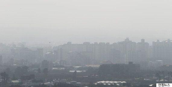 인천·경기·강원·전남·제주에 미세먼지 '주의보'