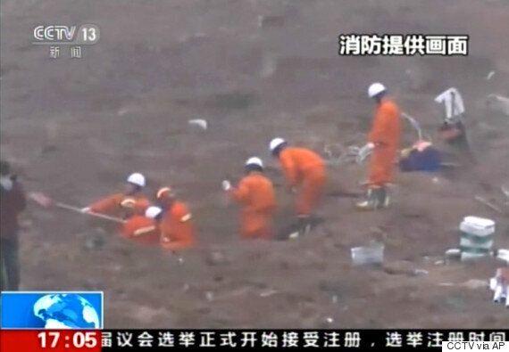 중국서 산사태로 건물 수십 채가