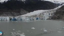 알래스카의 빙하가 사라지는 모습을 5초로 요약했다(타임랩스
