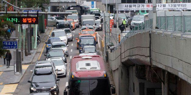 서울역 고가 폐쇄 후 첫 출근길