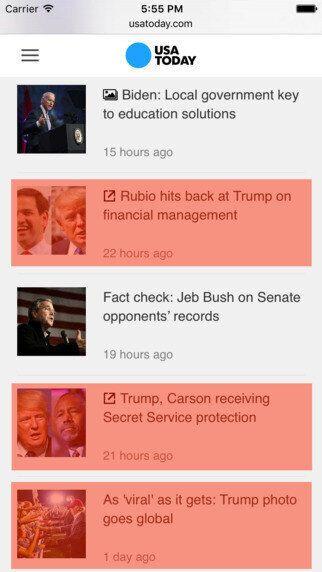 트럼프 관련 소식을 모두 '블록'해주는 앱이